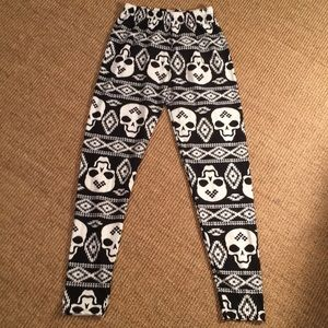 Death on two legs leggings one size fits all